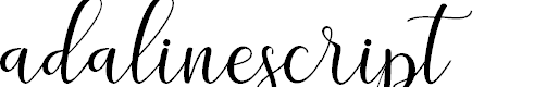 Preview image for adalinescript Font