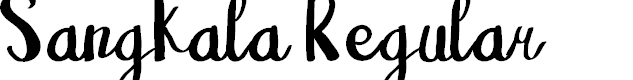 Preview image for Sangkala Regular Font