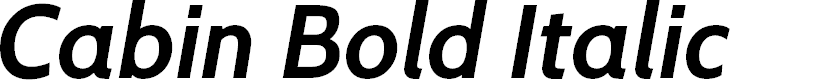 Preview image for Cabin Bold Italic