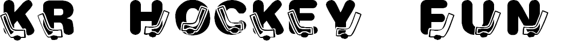 Preview image for KR Hockey Fun Font