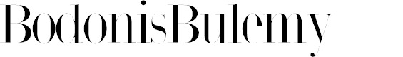Preview image for BodonisBulemy Font