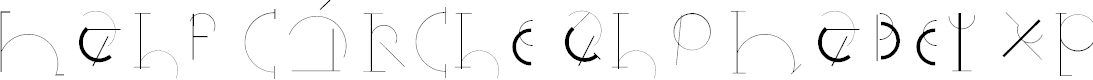 Preview image for HalfCircleAlphabetXP Font