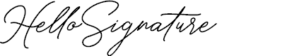 Preview image for HelloSignature Font