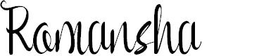 Preview image for Romansha Font