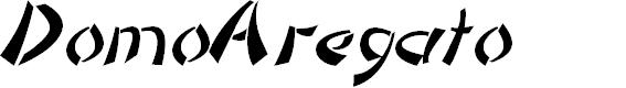 Preview image for DomoAregato Italic