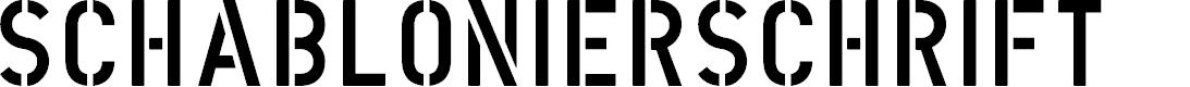 Preview image for DIN Schablonierschrift Font
