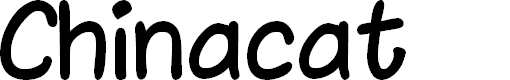 Preview image for Chinacat Font