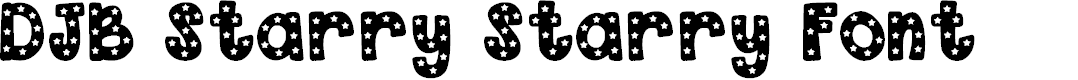 Preview image for DJB Starry Starry Font