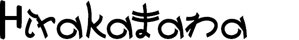 Preview image for Hirakatana Font