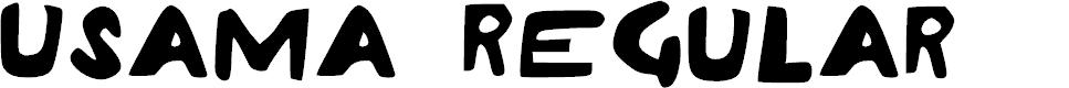 Preview image for Usama Regular Font