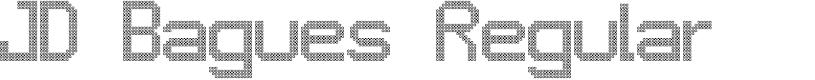 Preview image for JD Bagues Regular Font