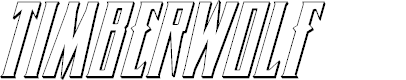 Preview image for Timberwolf 3D Italic