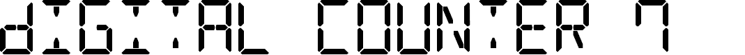 Preview image for Digital Counter 7 Font