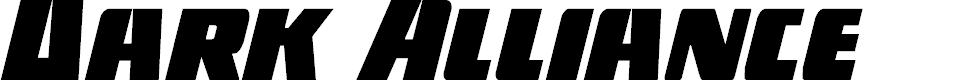 Preview image for Dark Alliance Condensed Italic