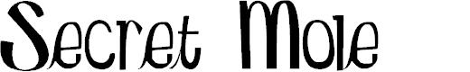 Preview image for Secret Mole Font