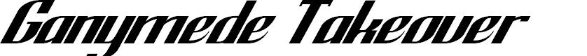 Preview image for GanymedeTakeover-Regular Font