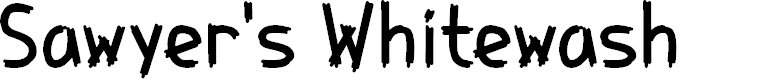 Preview image for Sawyer's Whitewash Font