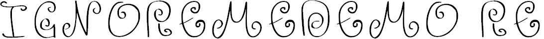 Preview image for Ignoreme_demo Regular Font