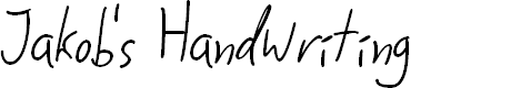 Preview image for Jakob's Handwriting Font