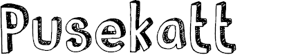 Preview image for DKPusekatt Font