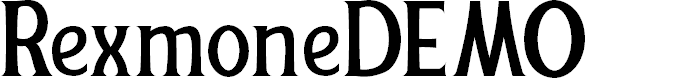 Preview image for RexmoneDEMO Font