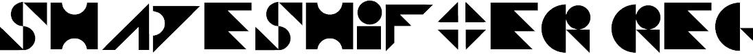 Preview image for Shapeshifter Regular Font