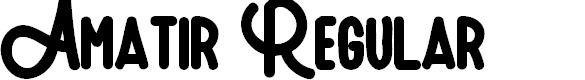 Preview image for Amatir Regular Font