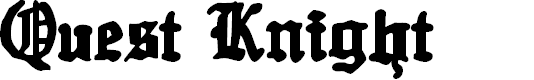 Preview image for Quest Knight Font