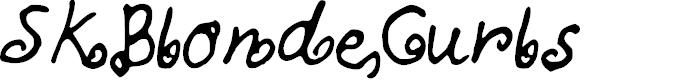 Preview image for SKBlondeCurls Font