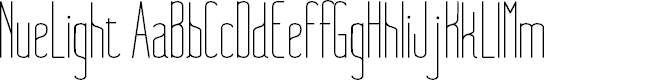 Preview image for NueLight Font