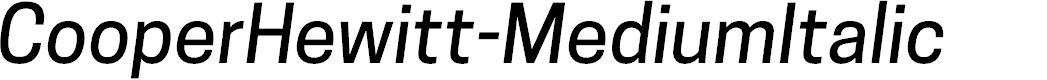 Preview image for CooperHewitt-MediumItalic