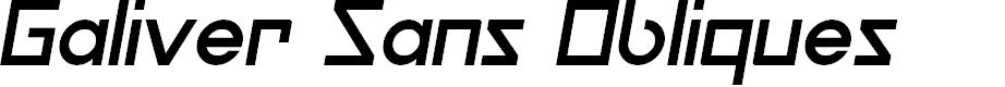 Preview image for Galiver Sans Obliques Font
