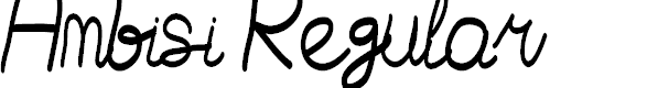 Preview image for Ambisi Regular Font