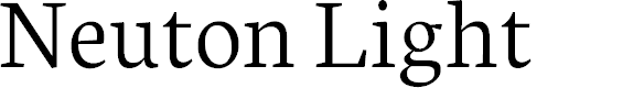 Preview image for Neuton Light Font