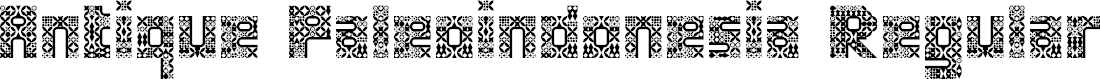 Preview image for Antique Paleoindonesia Regular Font