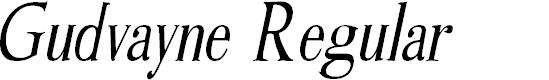 Preview image for Gudvayne Regular Font