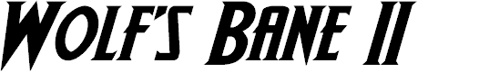 Preview image for Wolf's Bane II Expanded Italic