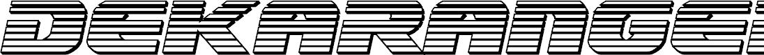Preview image for Dekaranger Platinum Italic