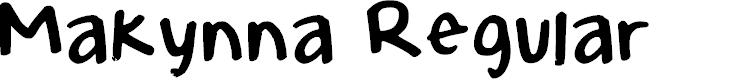 Preview image for Makynna Regular Font