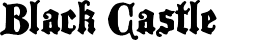 Preview image for BlackCastleMF Font