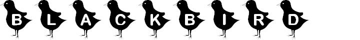 Preview image for KR Blackbird Font