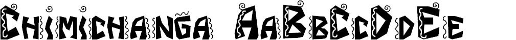Preview image for JI Chimichanga Font