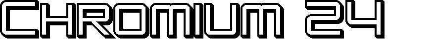 Preview image for SF Chromium 24 SC Bold