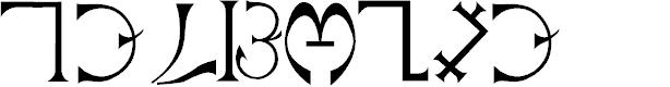 Preview image for Enochian Font