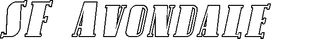 Preview image for SF Avondale SC Outline Italic