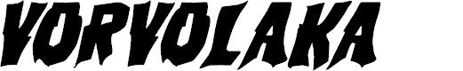 Preview image for Vorvolaka Italic