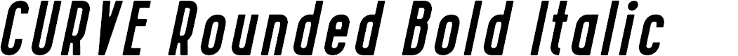 Preview image for CURVE Rounded Bold Italic Font