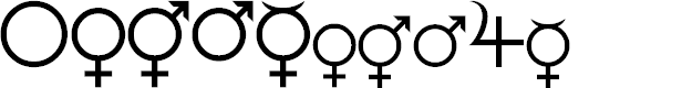 Preview image for Female and Male Symbols Font
