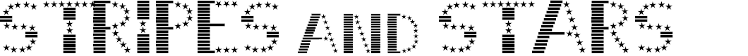 Preview image for STRIPES & STARS Normal Font