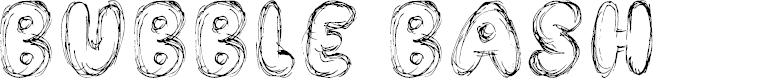 Preview image for Bubble Bash Font
